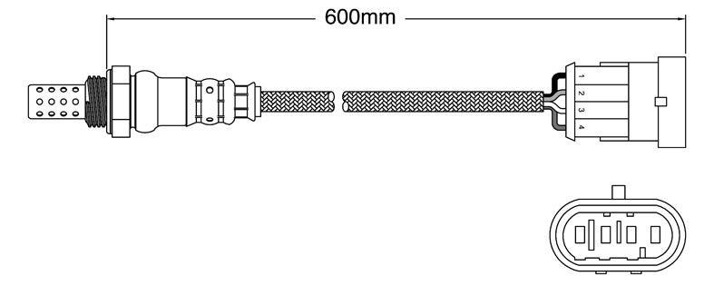 Pre-Cat left oxygen sensor for Alfa Romeo 156 AR932 AR324.05 6-Cyl 2.5 1/02-10/05