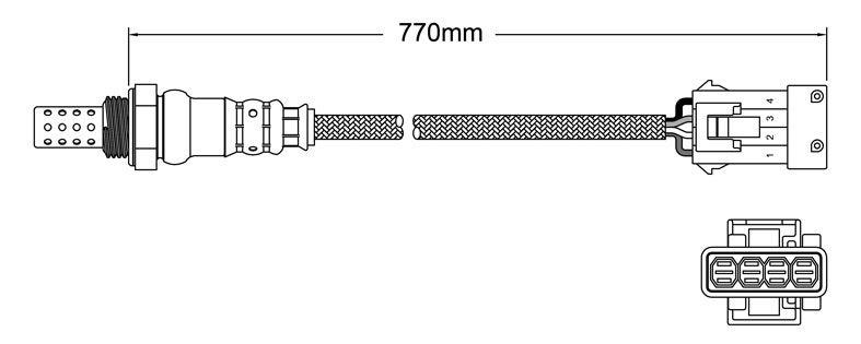 Pre-Cat oxygen sensor for Saab 9-5 B308E 6-Cyl 3.0 Turbo 00-03