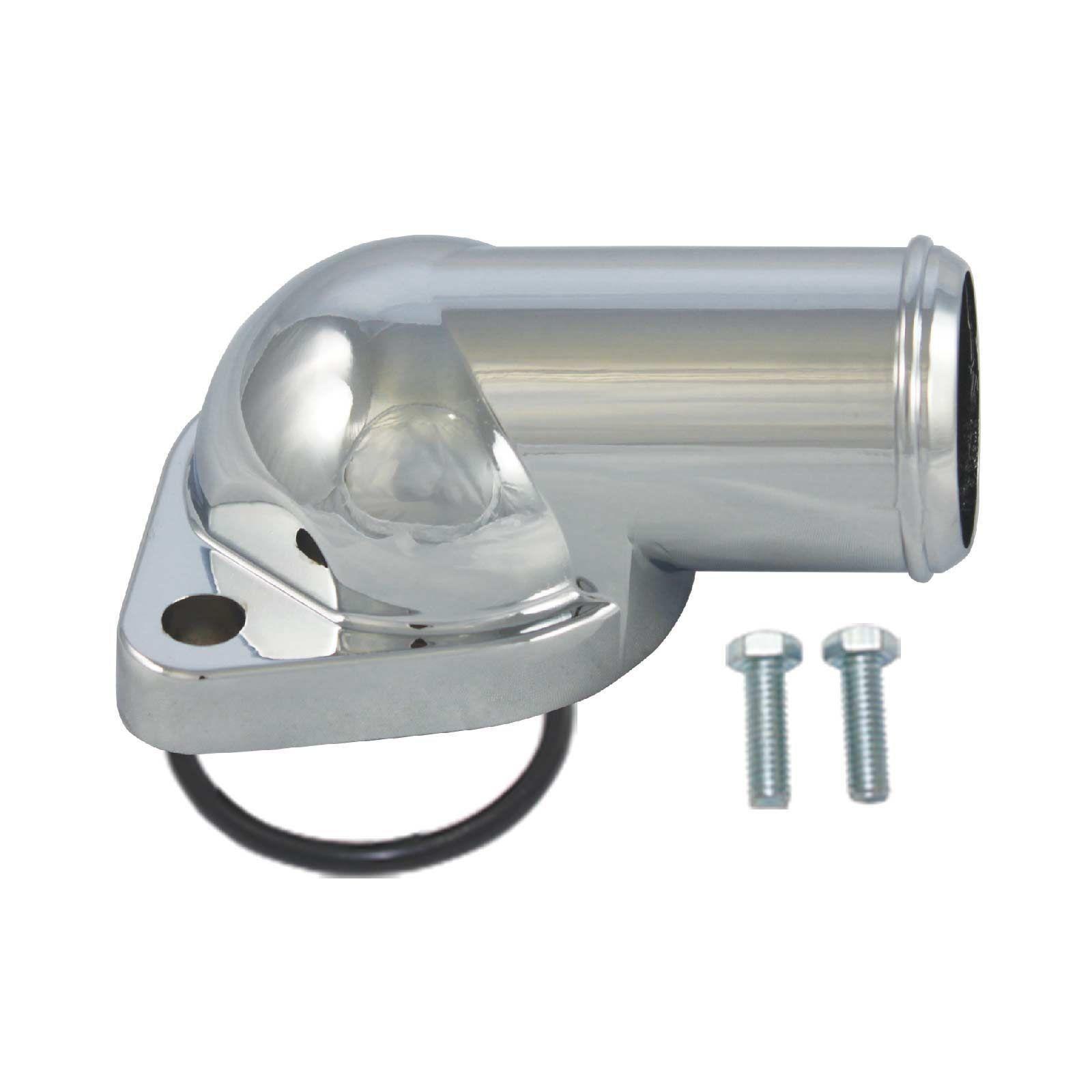 Proflow Aluminium Water Neck Pontiac V8 O'Ring Style Chrome