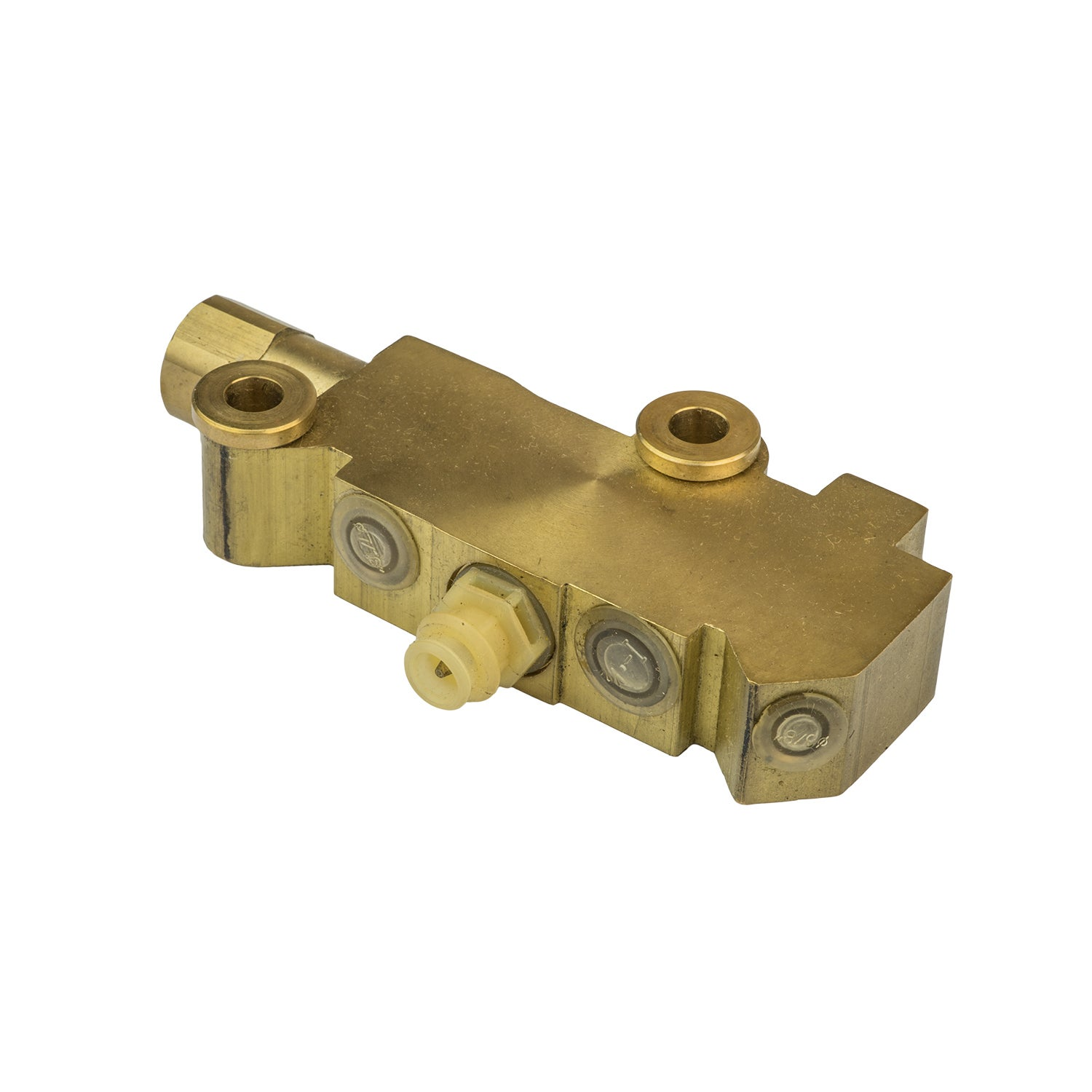 Proflow Brake Proportioning Valve Fixed Dual Inlet 3 Outlets Brass Front Disc/Drum Brakes
