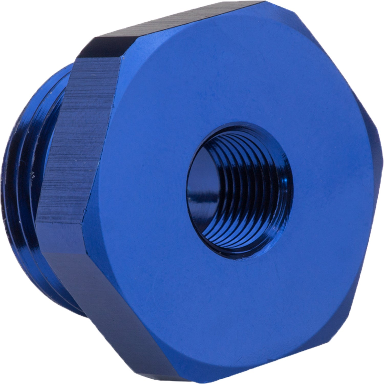 Proflow Fitting Straight Adaptor -10AN O-Ring Port To 1/8in. NPT Female Blue