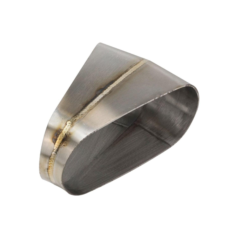 Proflow Pie Cut Welded Oval Tube Horizontal 304 Stainless Steel 4.0 in. 30 deg