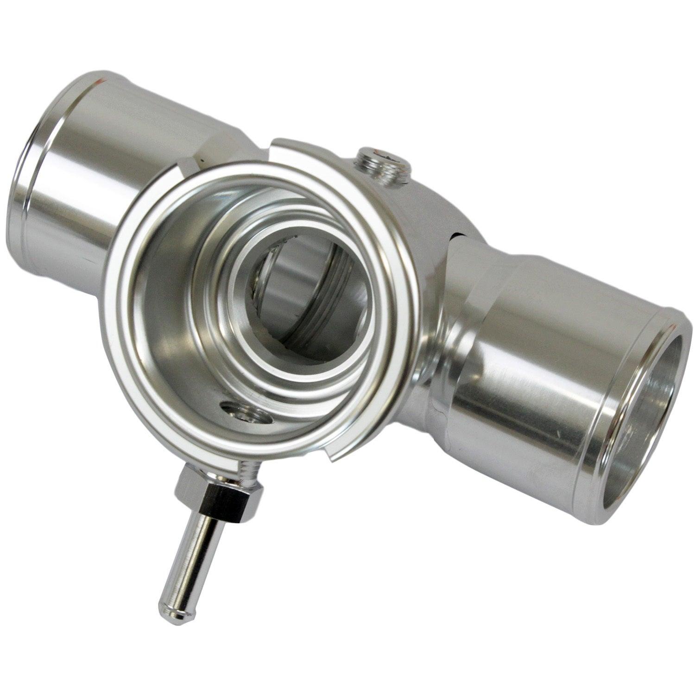 Proflow Radiator Hose Filler Inline Billet Silver 1.5 in./1.5 in.