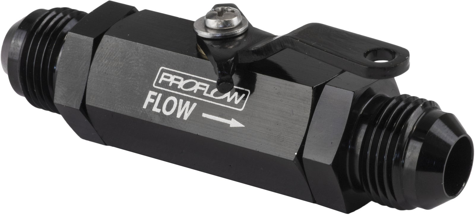 Proflow Valve Shut-Off Aluminium Black -12 AN Male Threads Each