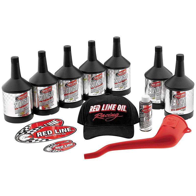 Red Line Oil V-TWIN 20W50 Powerpack 5 quarts of 20W50 Motorcycle Oil
