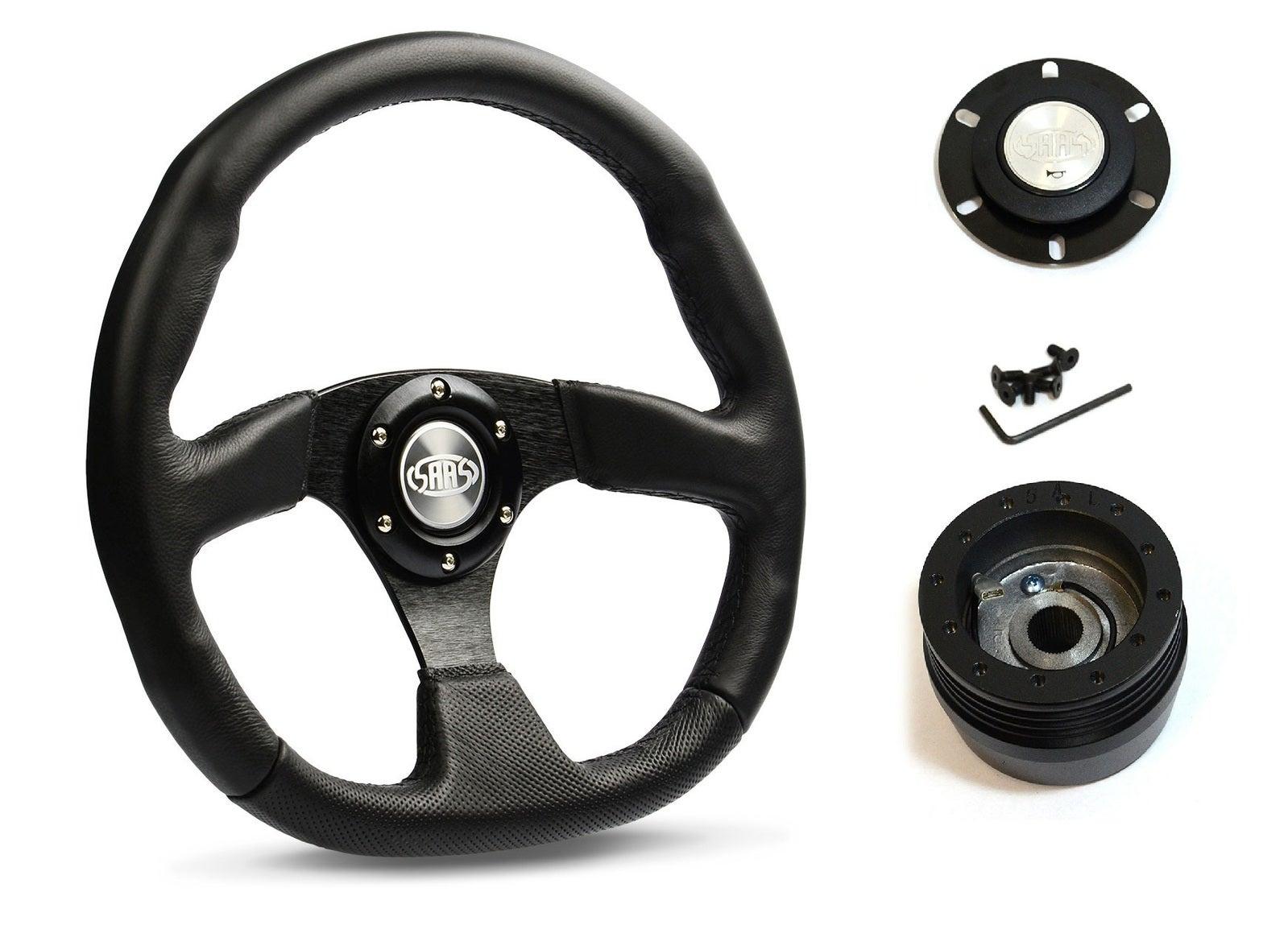 SAAS Steering Wheel D1-SWB-F & boss for Holden Nova LE LF 1989-1993