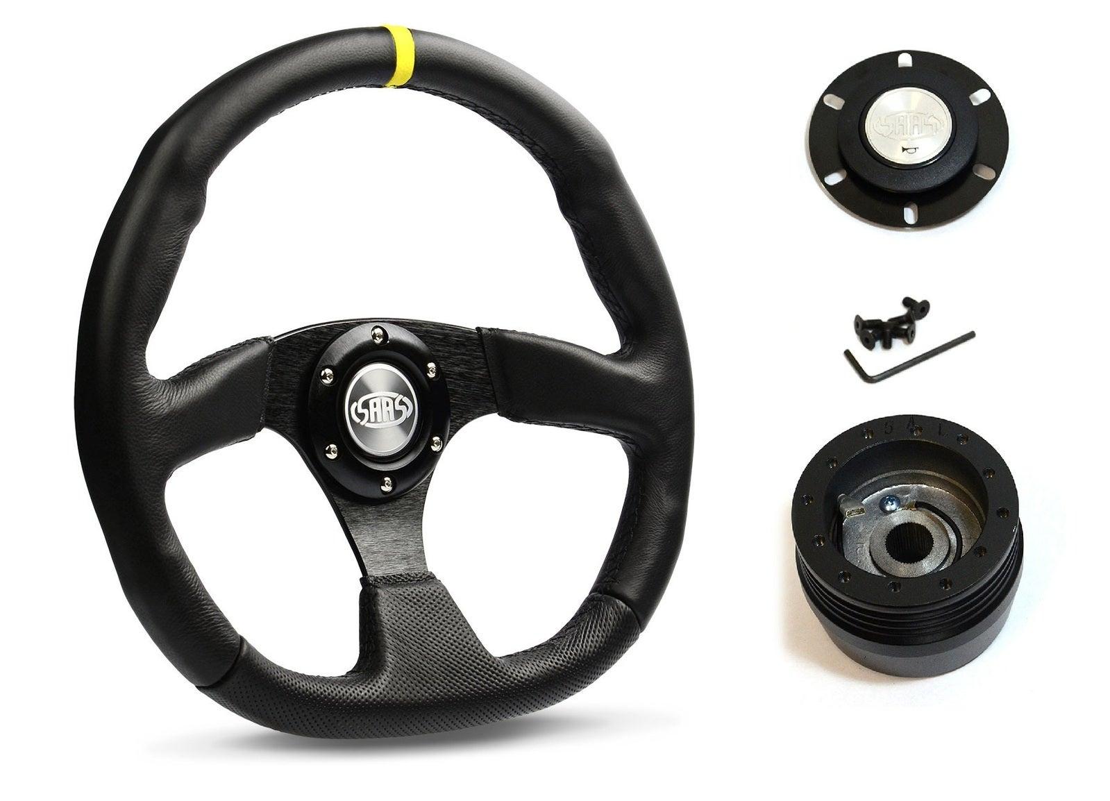 SAAS Steering Wheel D1-SWB-F2 & boss for Mazda Astina MX5 MX6 EUNOS 1988-1998