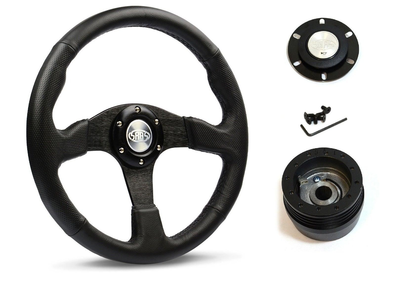 SAAS Steering Wheel D1-SWB-R & boss for Ford Falcon XB XC XD 1974-1982