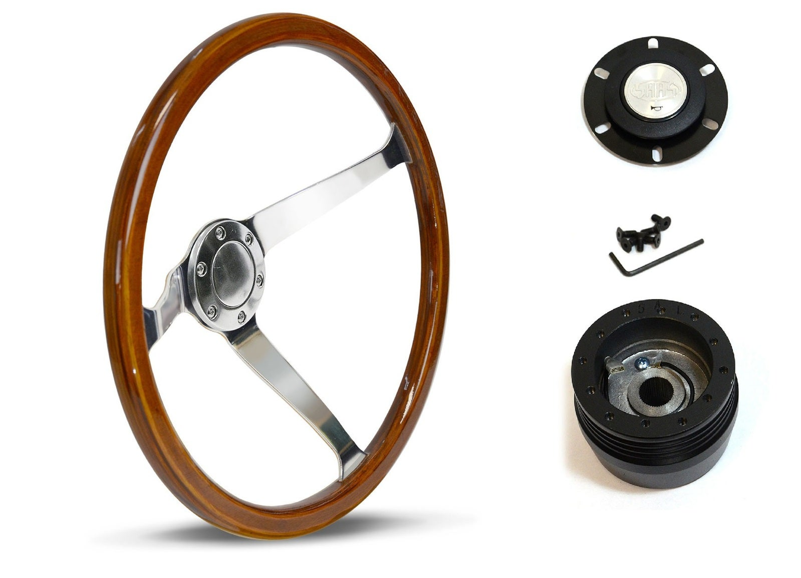 SAAS Steering Wheel SW15612 & boss for Toyota Camry V21 1987-1992