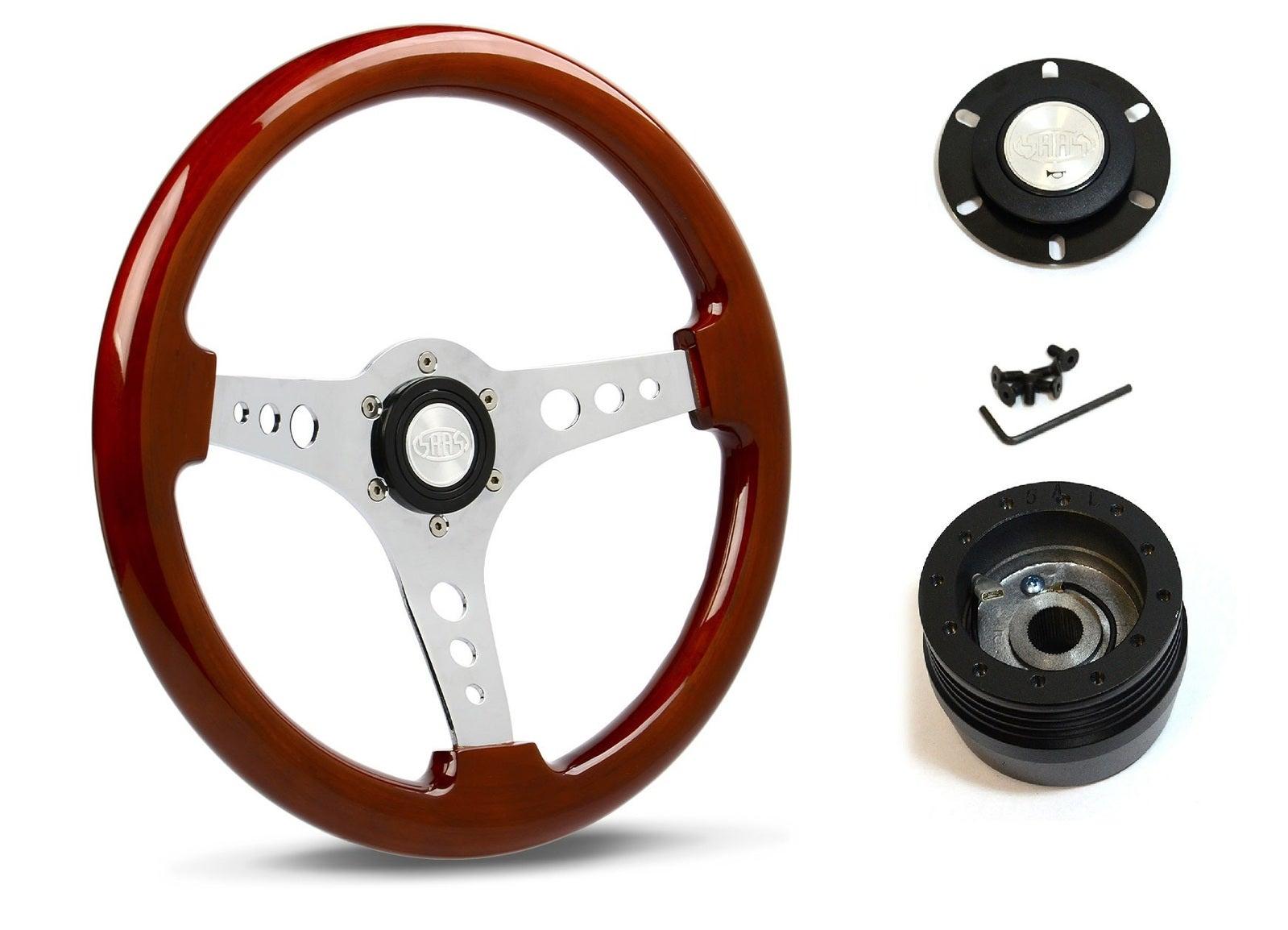 SAAS Steering Wheel SW506CW & boss for Chevrolet Corvette 1967