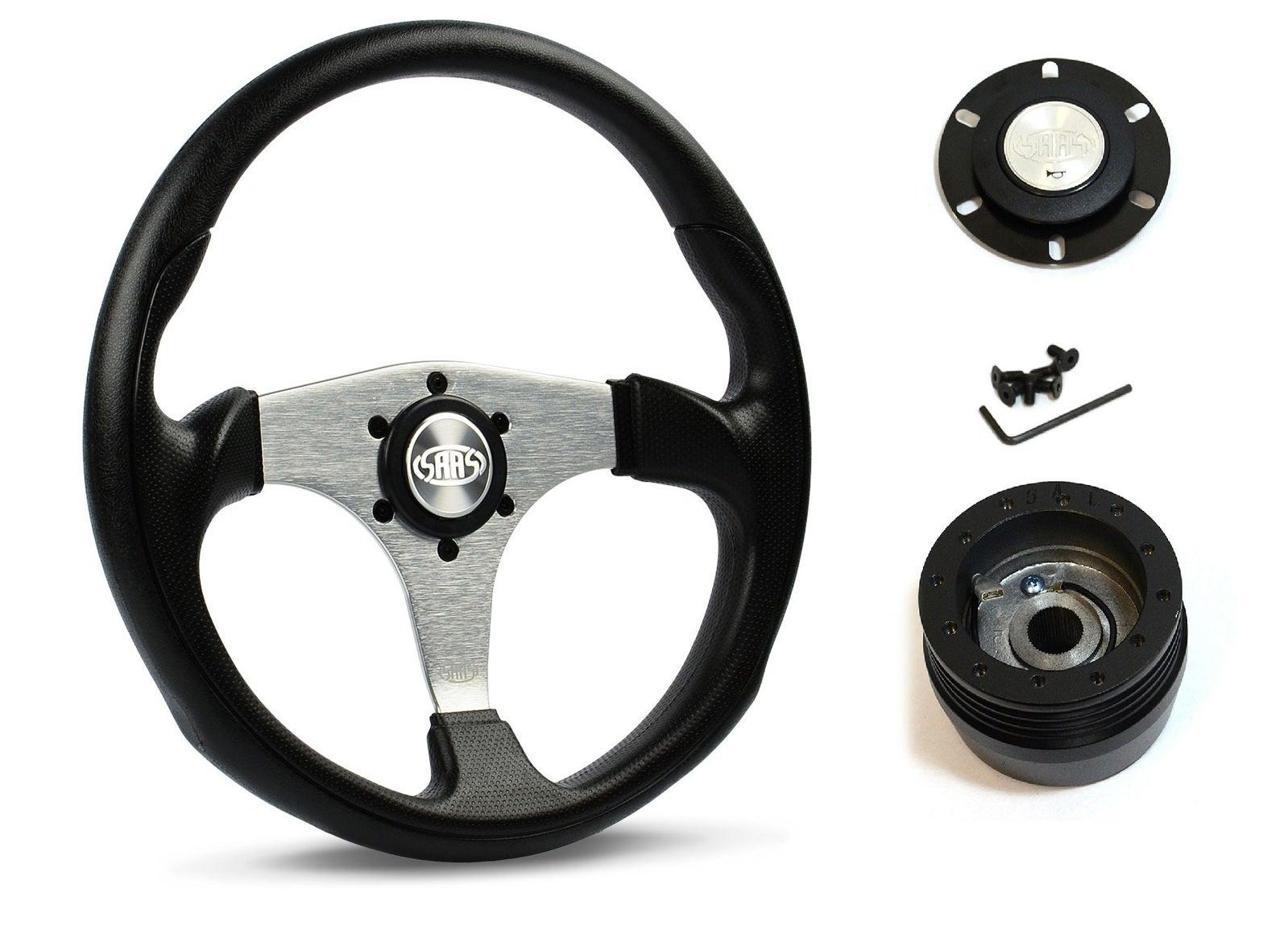 SAAS Steering Wheel SW515S-R & boss for Honda Integra DA9 1990-1993