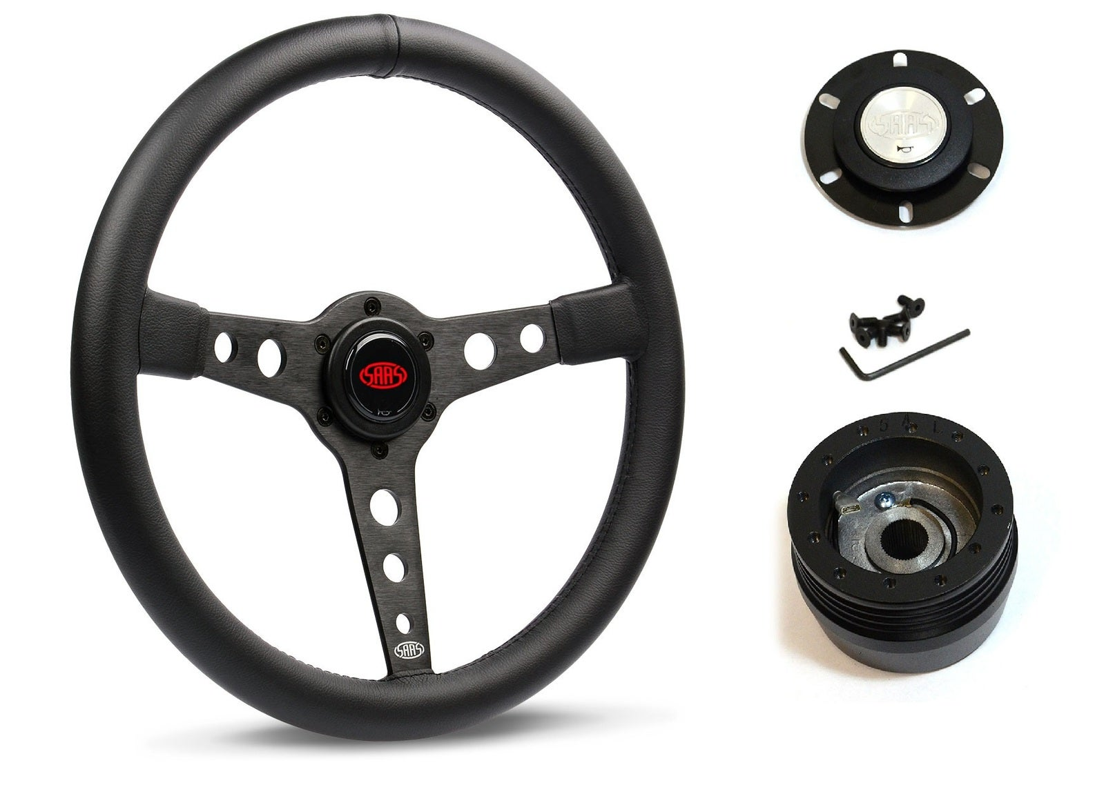 SAAS Steering Wheel SW616OS-BS & boss for Holden Commodore VT VZ 1999-2006