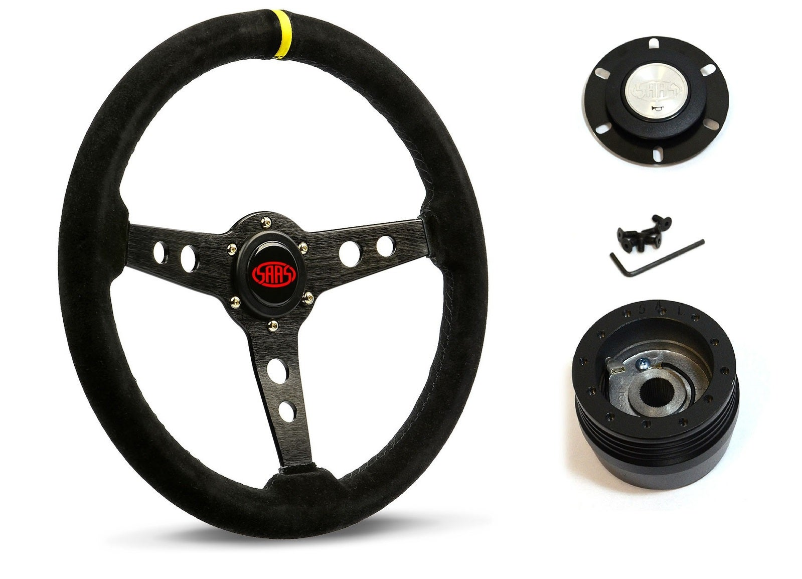 SAAS Steering Wheel SW616OS-S & boss for Ford Falcon XE XF Falcon / Fairmont