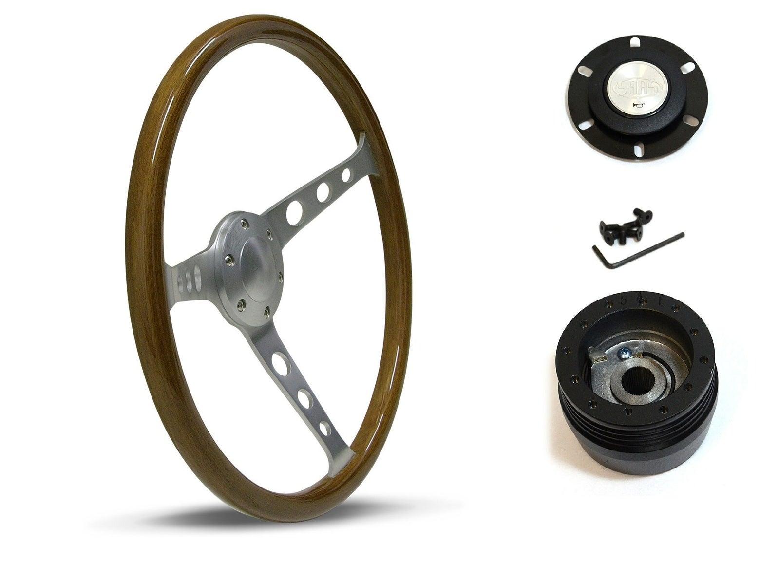 SAAS Steering Wheel SW701BAW & boss for Subaru Leone 1800 Brumby 1979-1984