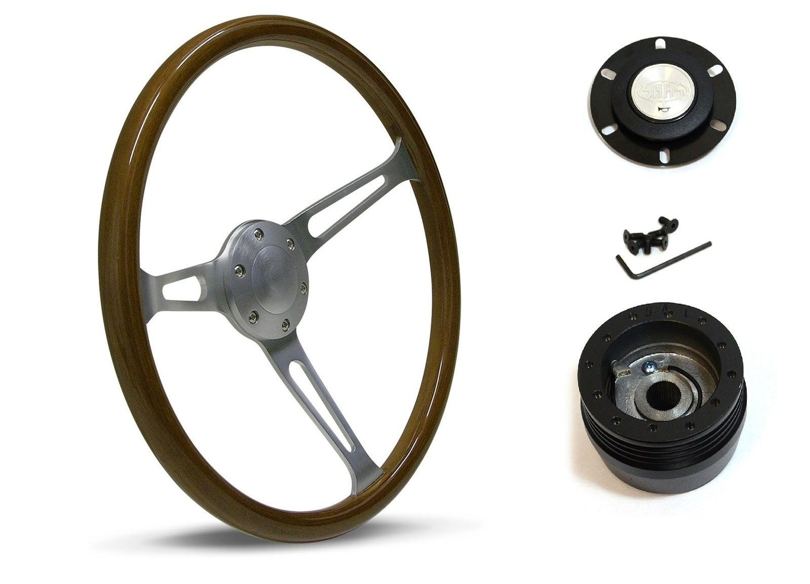 SAAS Steering Wheel SW702BAW & boss for Datsun 260C 1975-1983