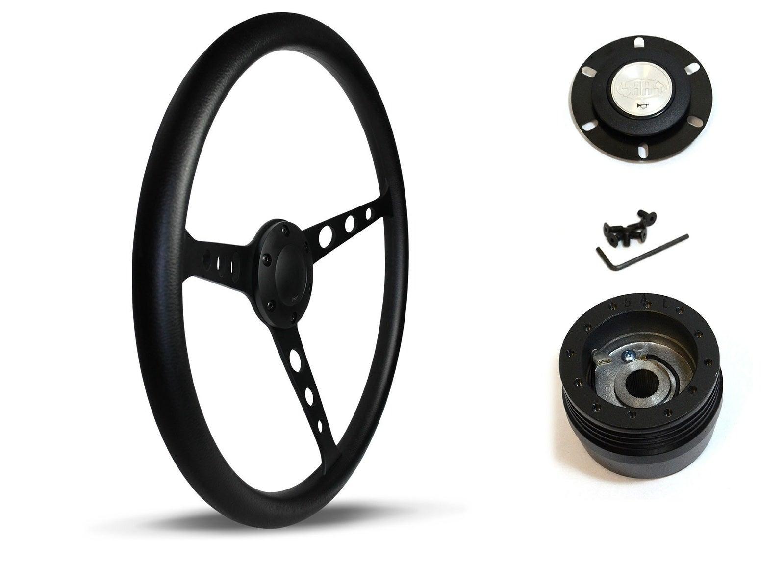 SAAS Steering Wheel SW702PBS & boss for Toyota Celica LT2000 RA23 RA28 RA40 RA60