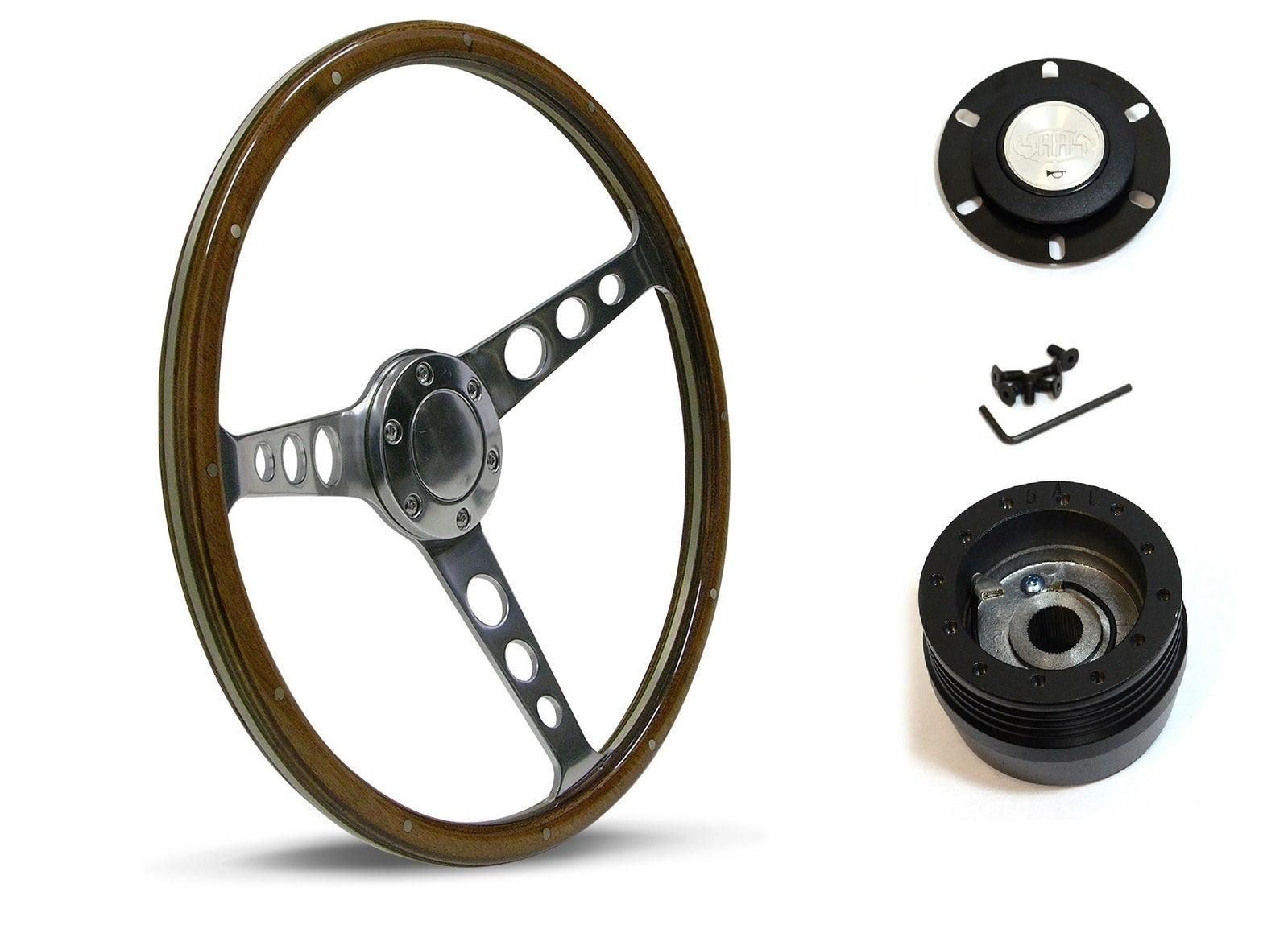 SAAS Steering Wheel SW704PHW & boss for Nissan Navara D21 1986-1997