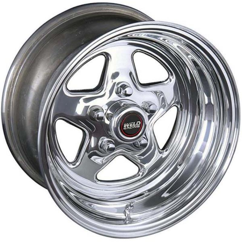"Weld Racing Pro Star 15"" x 8"" Wheel Polished Finish 5 x 4.5"" Bolt Circle with 3.5"" Backspace"