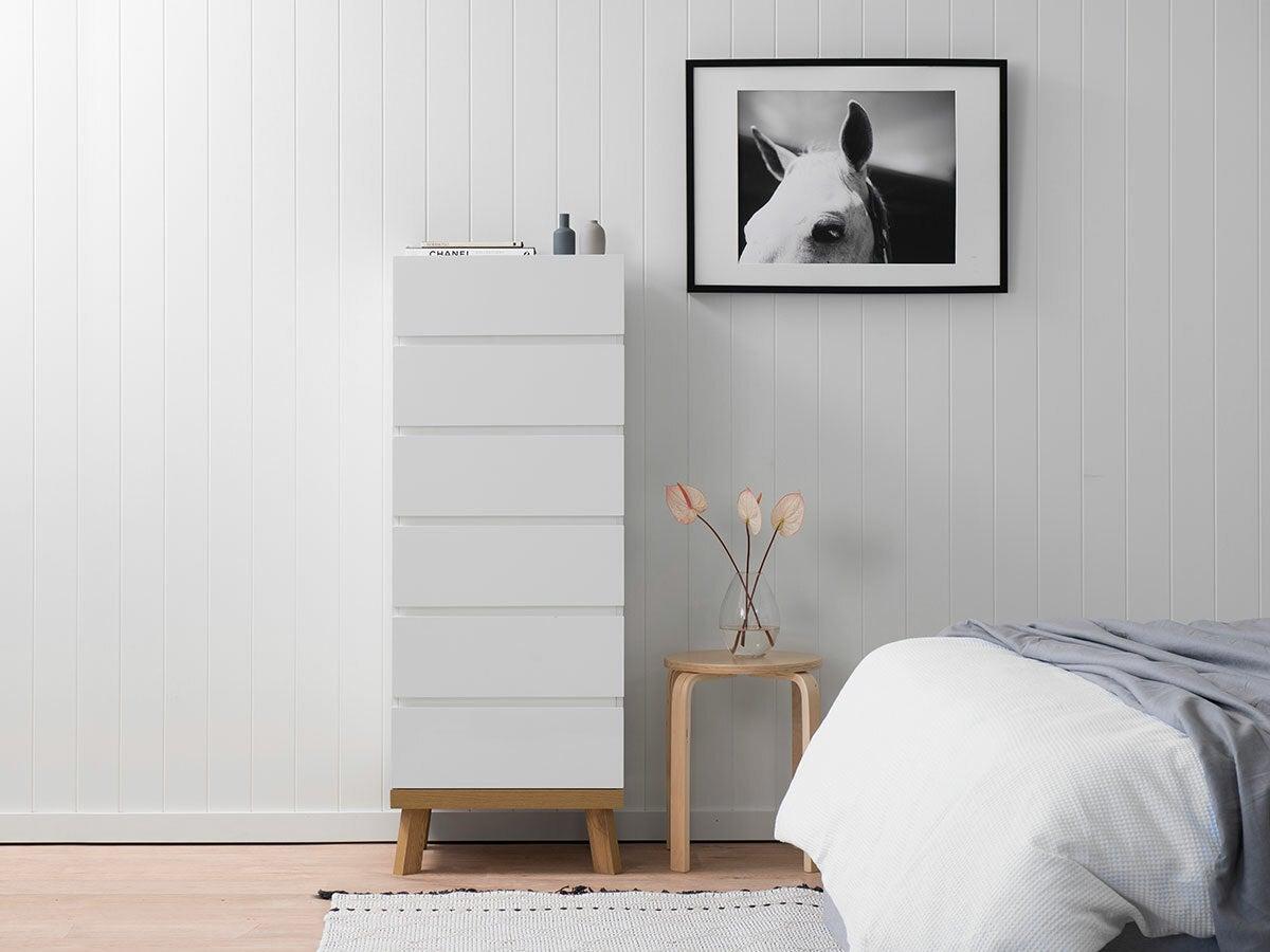 Addi Six Drawer - Slim - Bedroom Dresser Drawers
