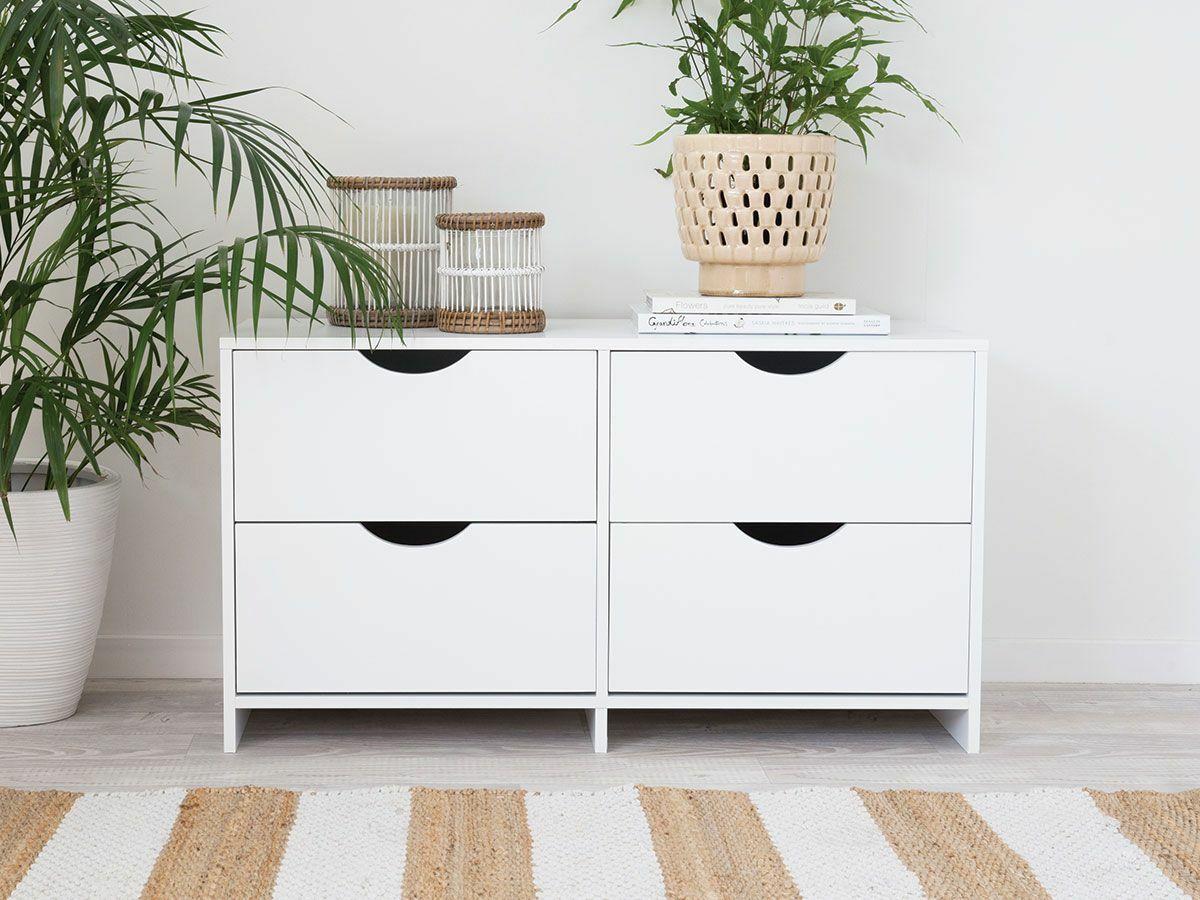 Brooklyn Midi Drawers - White Drawers - Bedroom Dresser Drawers
