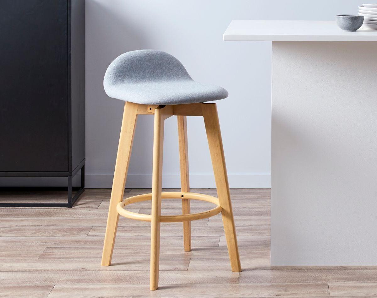 Livi Bar Seat - Light Grey - Barstools