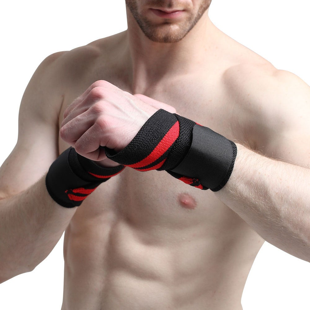 Fitness bandage wristbands Bodybuilding winding compression belt strength weightlifting wristband weightlifting compression wristband binding wristband