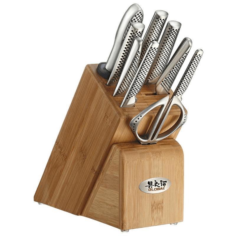 Global Takashi Knife Block Set Stainless Steel #79589