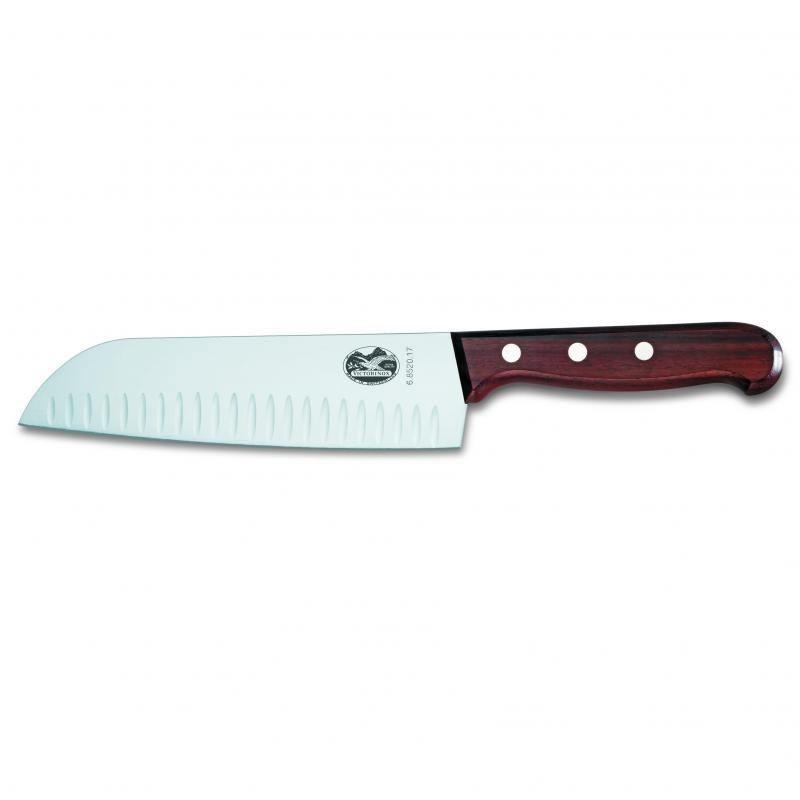 Victorinox Santoku Knife With Fluted Edge Rosewood Handle #6.8520.17G