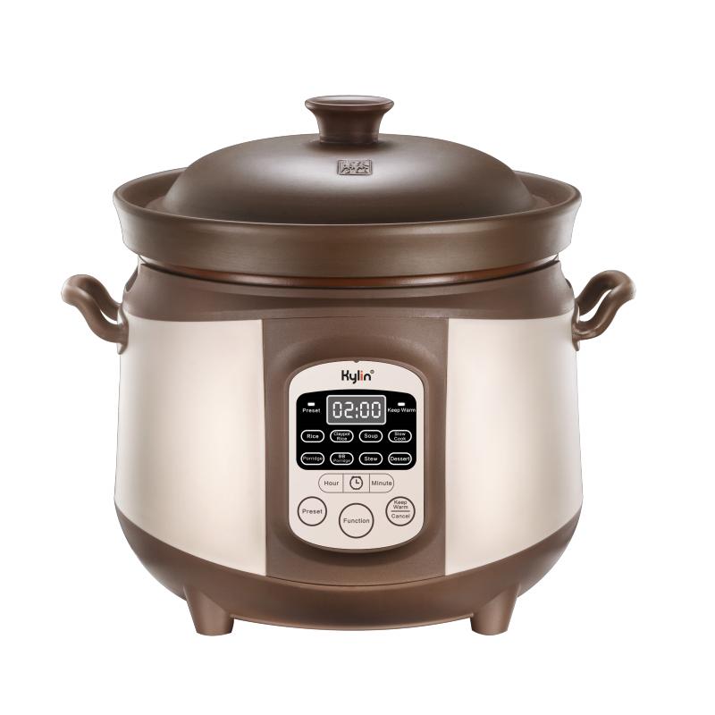 Kylin Electric Purple Clay Pot Slow Cooker 4L - K2022