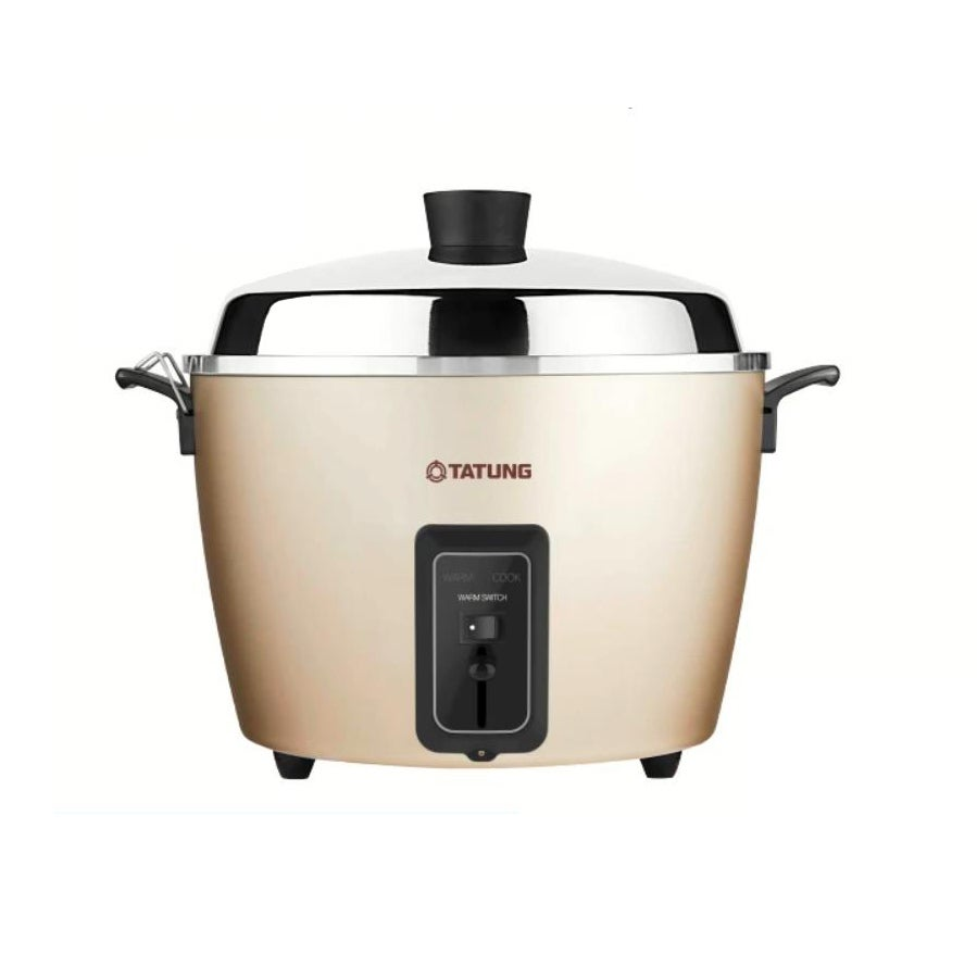 Tatung Multi-Functional Stainless Steel Inner Pot Rice Cooker in Champagne - 10 cups (4L)