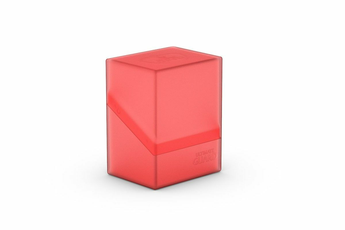 Ultimate Guard Boulder Deck Case 80+ Standard Size Ruby Deck Box