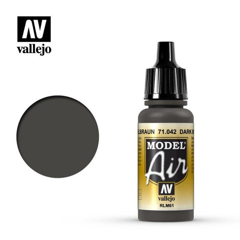 Vallejo Model Air - Dark Brown RLM61 17 ml