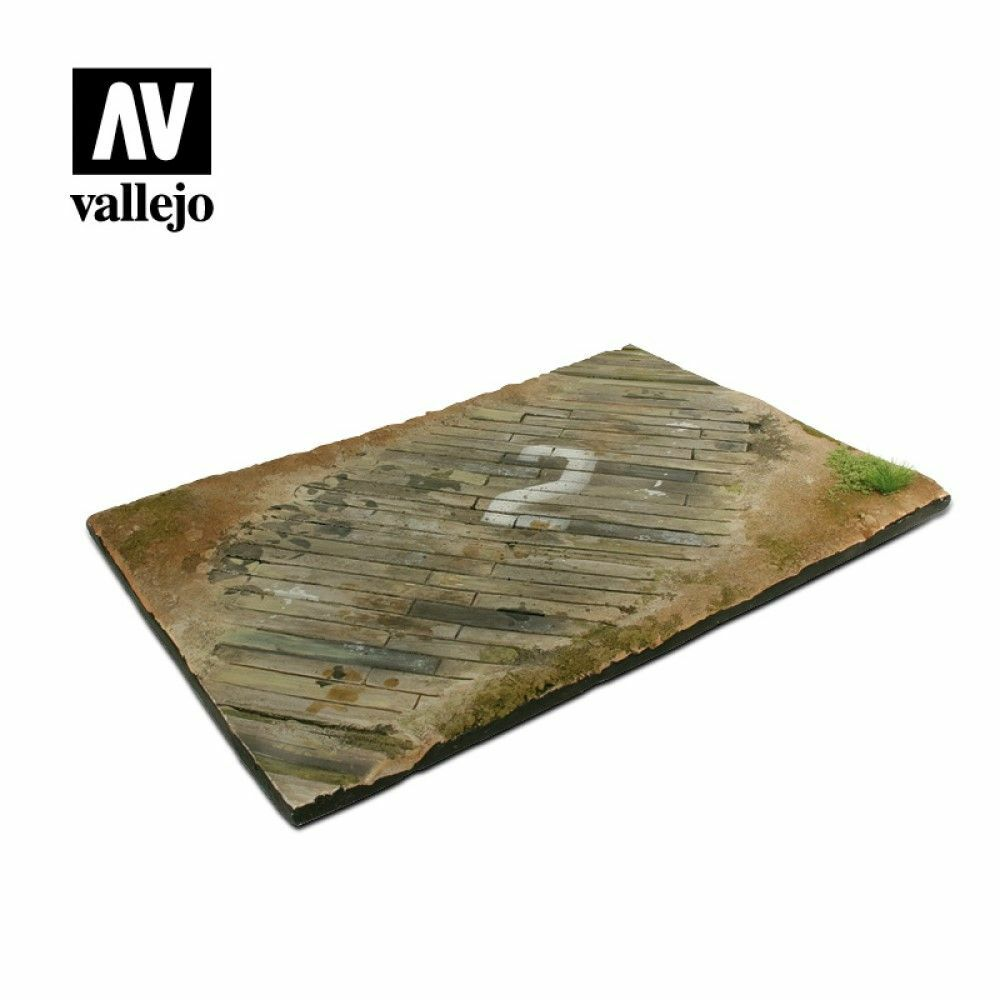 Vallejo Scenics Bases 1/35 - 31x21 Wooden airfield surface Diorama Base