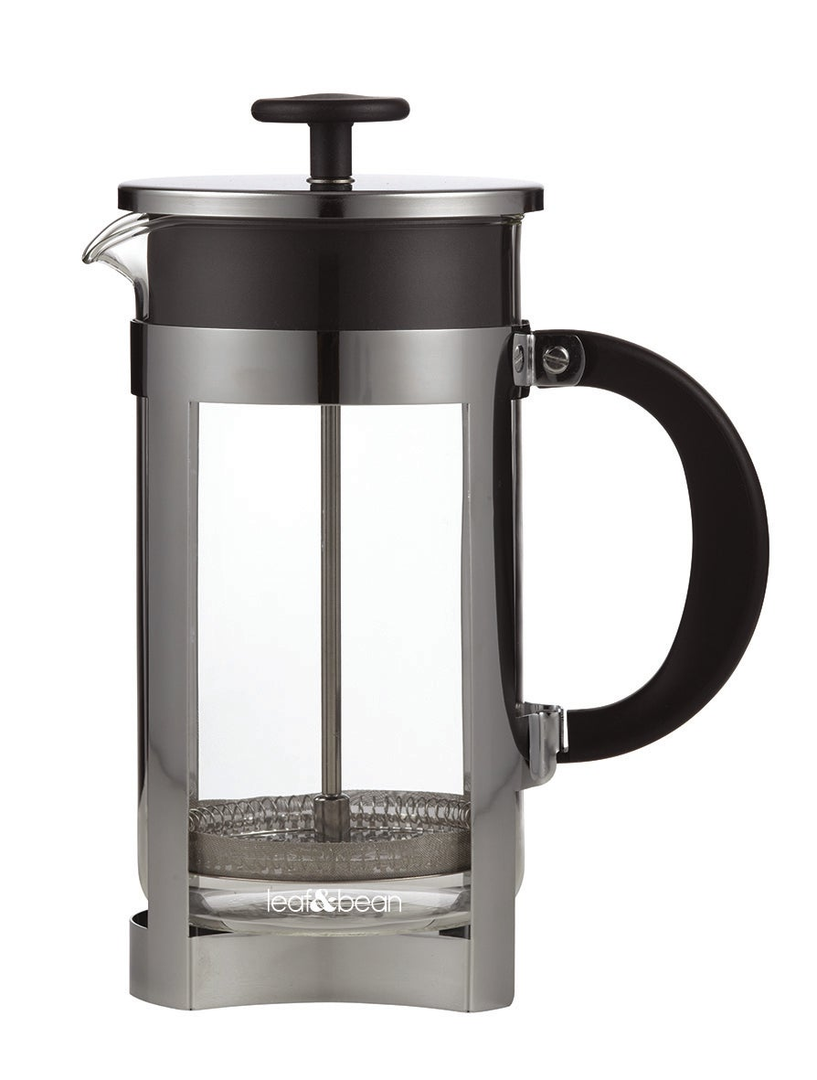 Leaf & Bean Berlin Plunger Clear/Stainless Steel/Black 16x10.5x23cm/8 cup/1L
