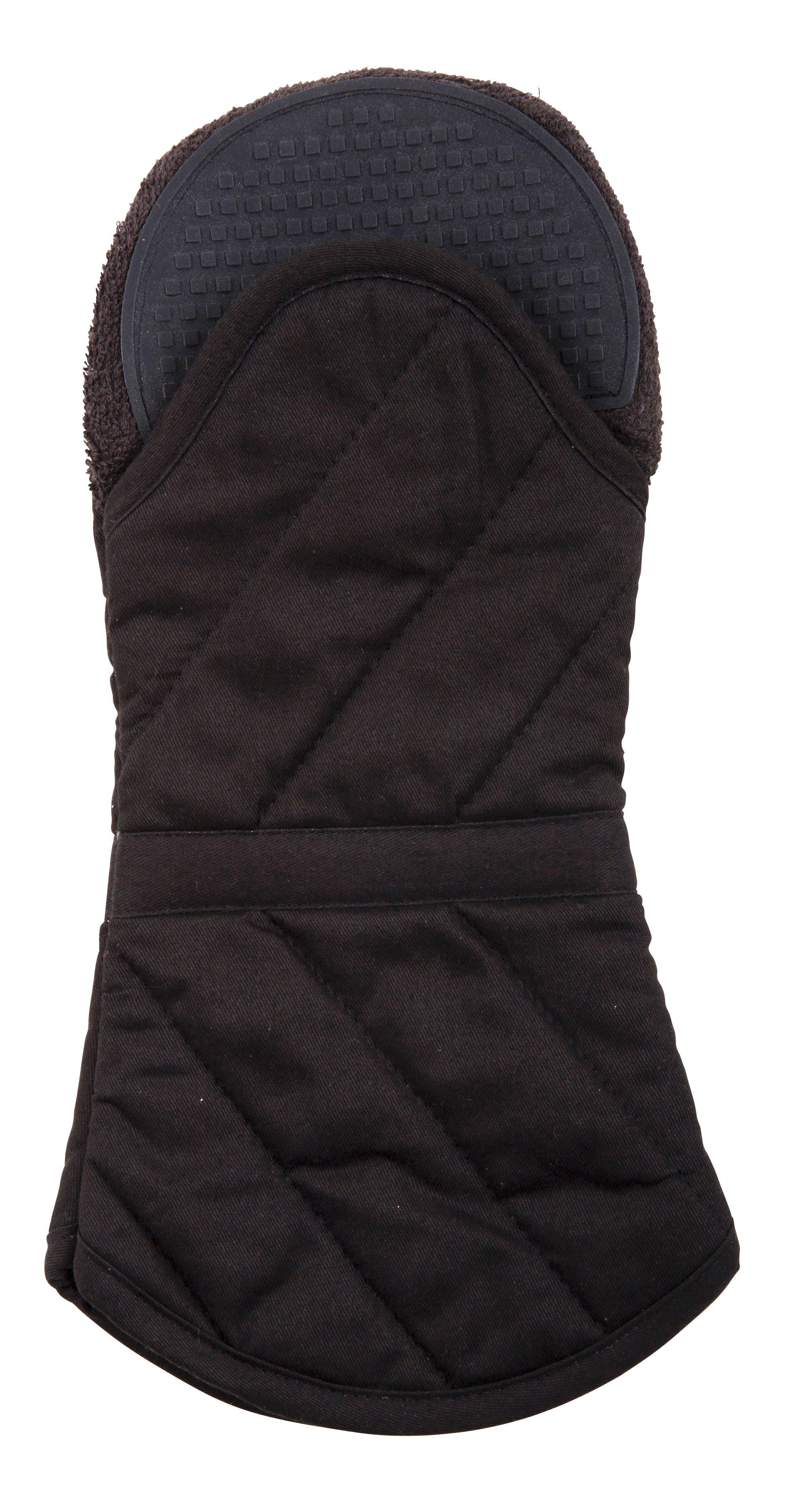 Savannah Safe & Snug Oven Glove Black 34x16.5x4cm