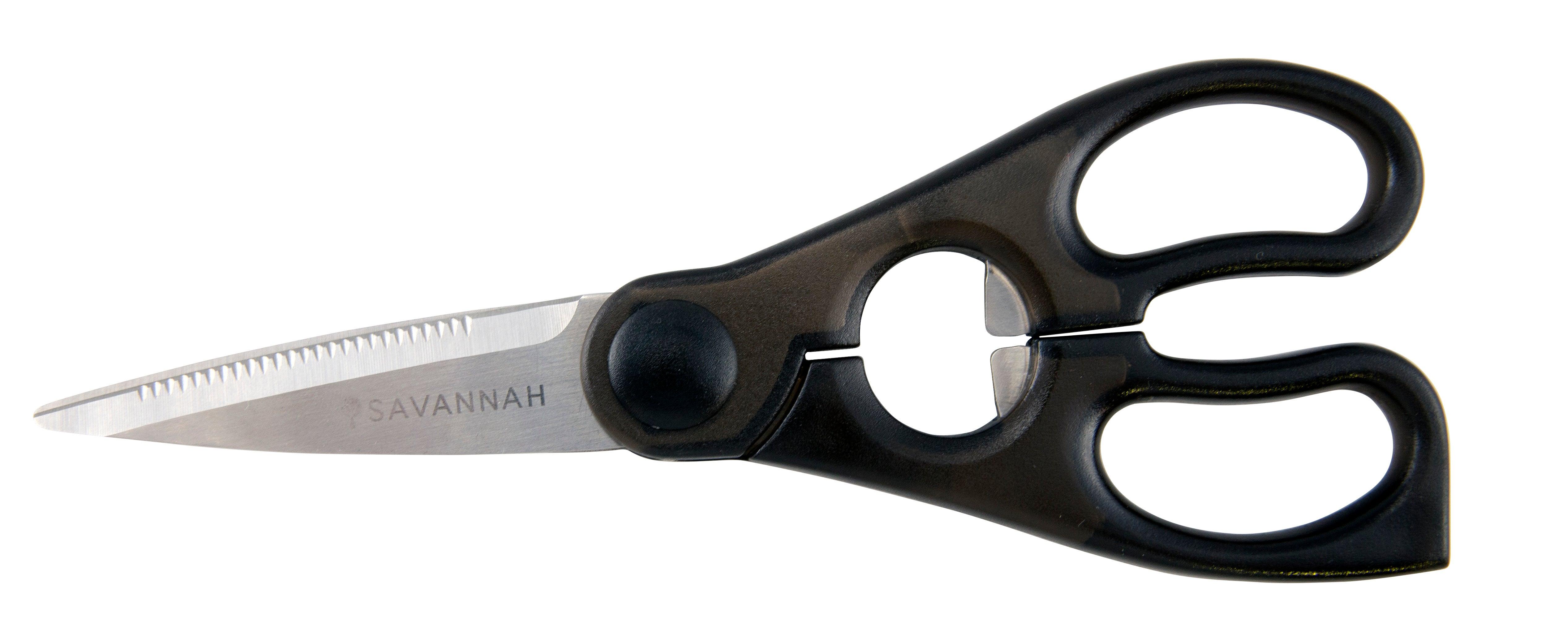 Savannah Stainless Steel Kitchen Scissors Black/Stainless Steel 20x8x1cm