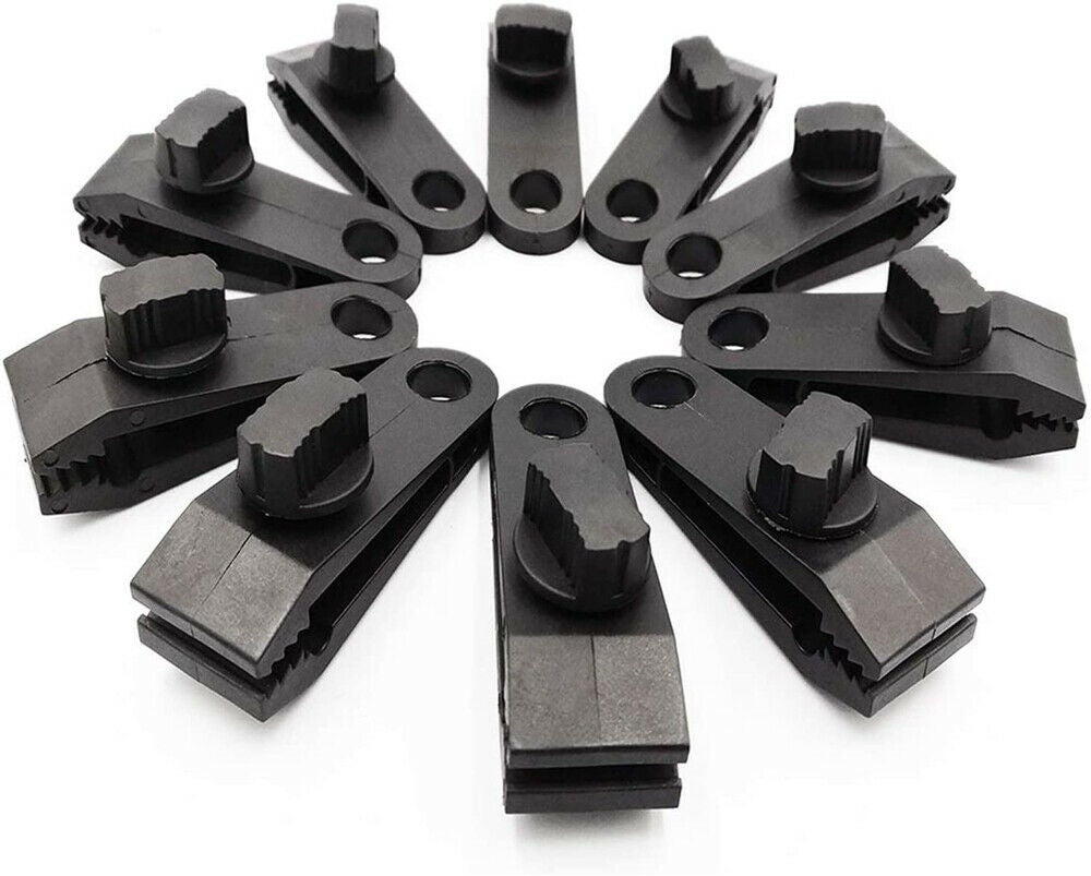 25x Tarp Clips Hangers Thumb Screw Camping Tent Awning Canvas Clamps Lock Grip