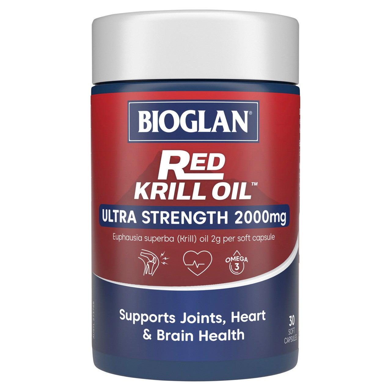 Bioglan High Dose Red Krill Oil 2000mg 30 Soft Capsules