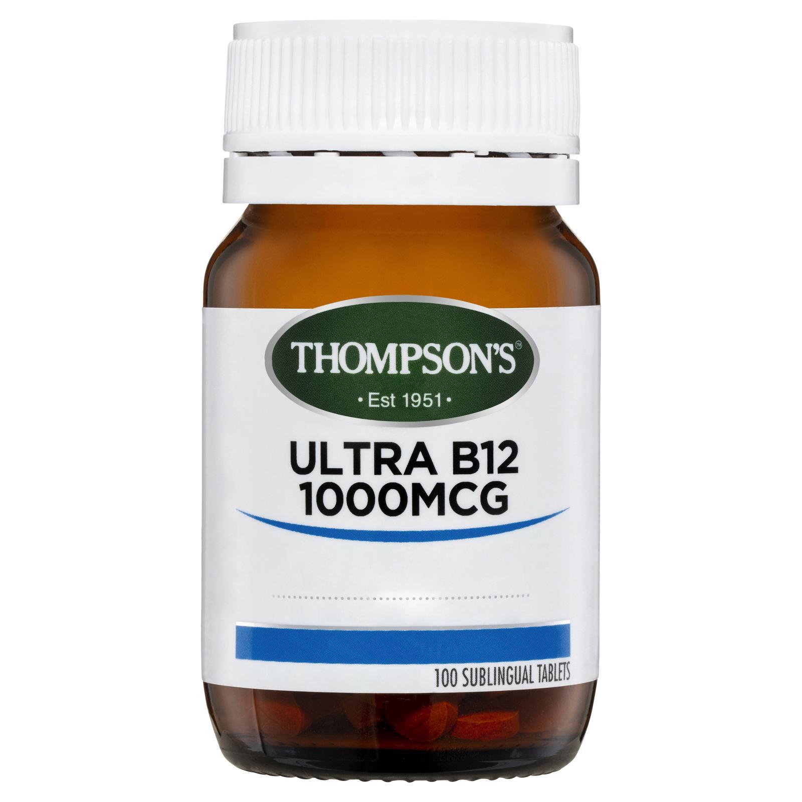 Thompson's Ultra B12 1000mcg 100 Tablets