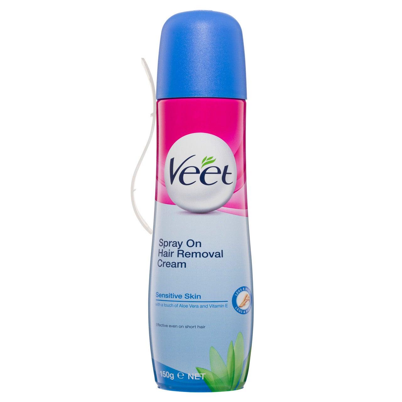 Veet Spray On Cream 150ml Sensitive