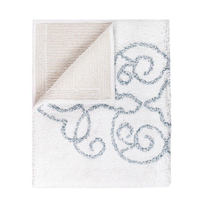 La'Grace Medallion Tufted Bathmat Jacquard Design -White 50 x 80 cm
