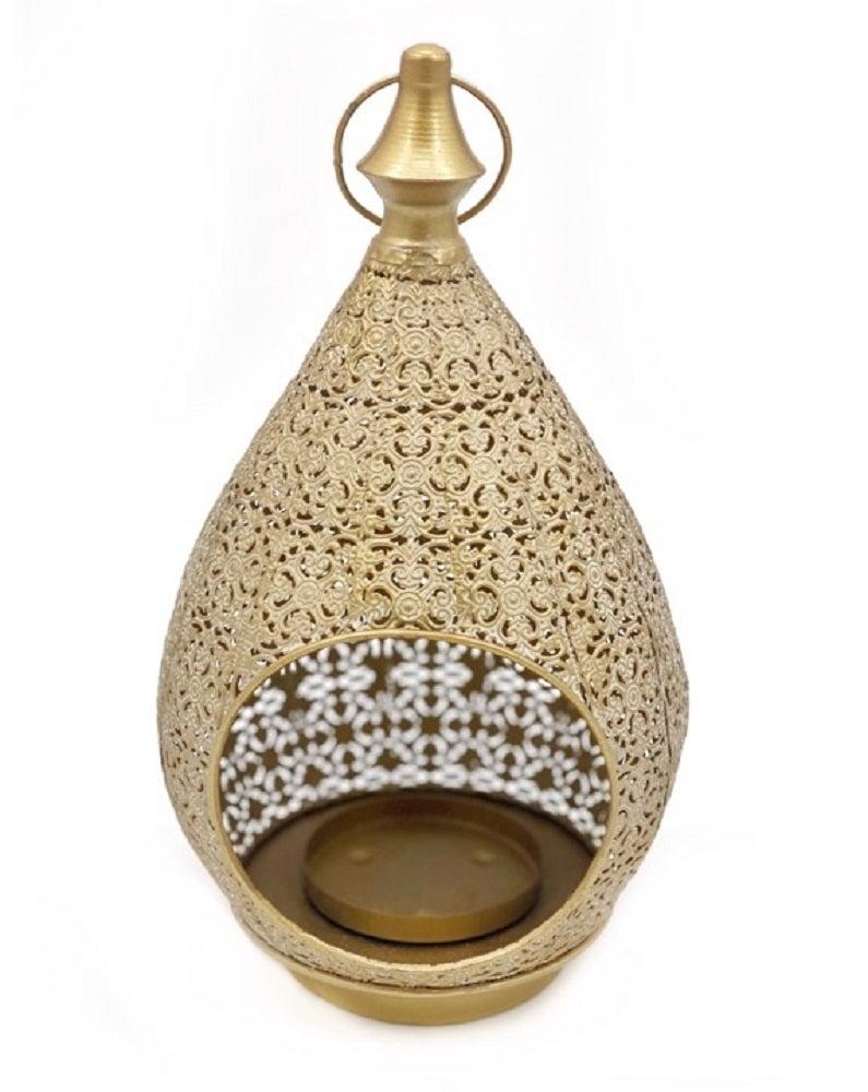 Moroccan Style Teardrop Lantern Candle Holder Tealight Lamp 18x31cm