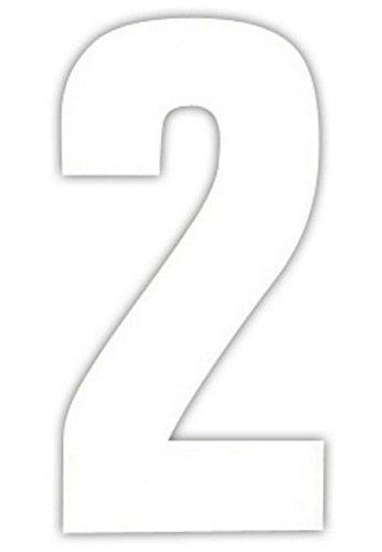 2 Large Wheelie Bin Number Self Adhesive Stick On Sticker White Numbers -2