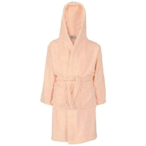 A2Z 4 Kids® Kids Girls Boys Towelling Bathrobes 100% Cotton Hooded Soft Terry - Towel Bathrobe Baby Pink 2-3
