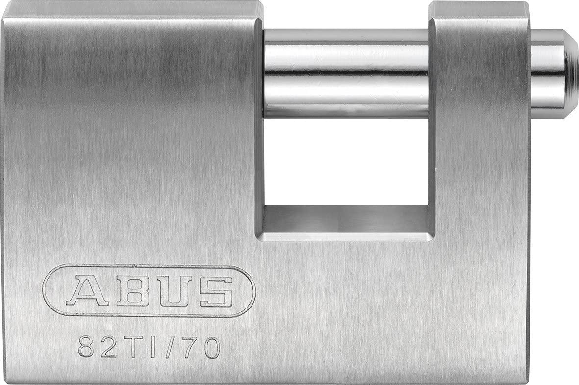 ABUS 24673 82TI/70 Titalium Monobloc Padlock, Silver