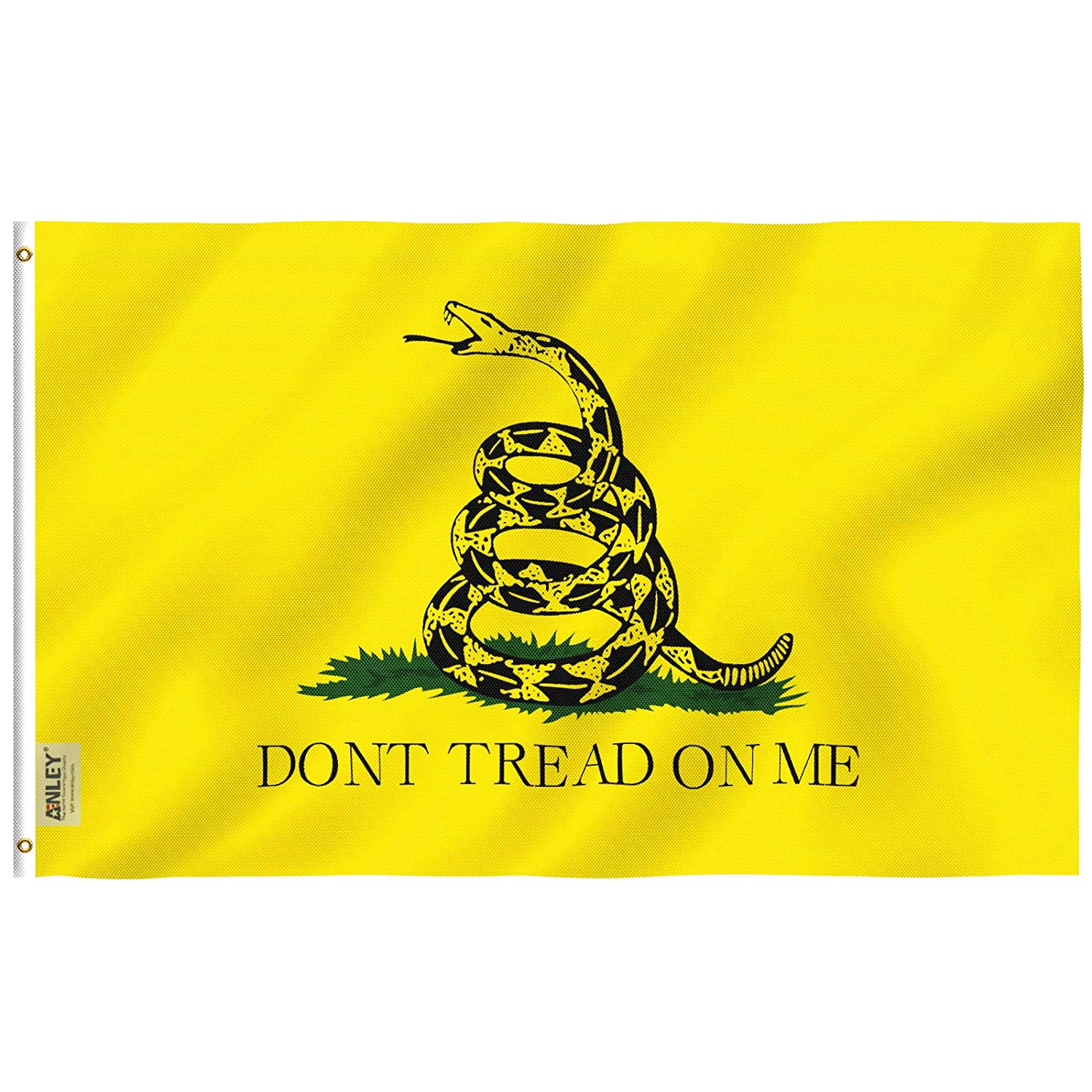 ANLEY® [Fly Breeze] 3x5 Foot Don't Tread On Me Polyester Flag - Vivid Color and UV Fade Resistant - Canvas Header and Double Stitched - Dont Tread On Me Banner Flags with Brass Grommets 3 X 5 Ft