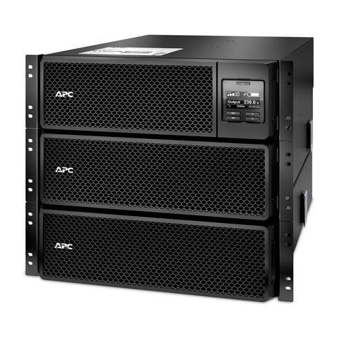 APC Smart-UPS SRT - SRT10KRMXLI - Uninterruptible Power Supply 10000VA - RM, 6 Outlets IEC C13, 4 Outlets IEC C19, Hard Wire, 10/100 BaseT Connection, Multi-function LCD Panel, Control Console