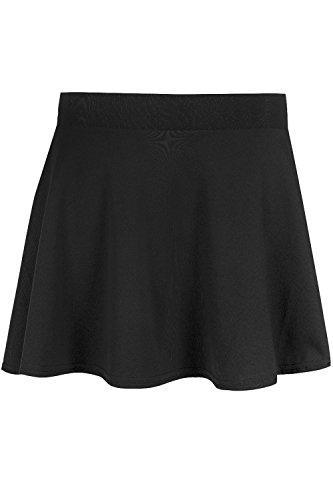Be Jealous Kid's Skater Skirt School Uniform High Waist Stretch Swing Mini Skirt Age 7/8 Years Black