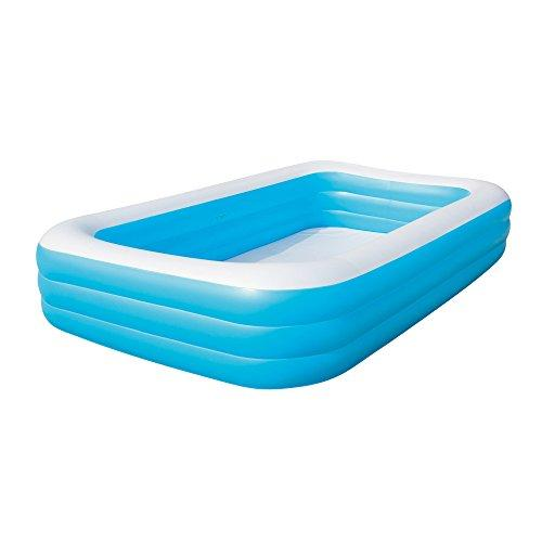 """BestWay Family Swimming Paddling Pool Rectangular Inflatable Above Ground 10'X72""""X22"""" Blue BW54009"""