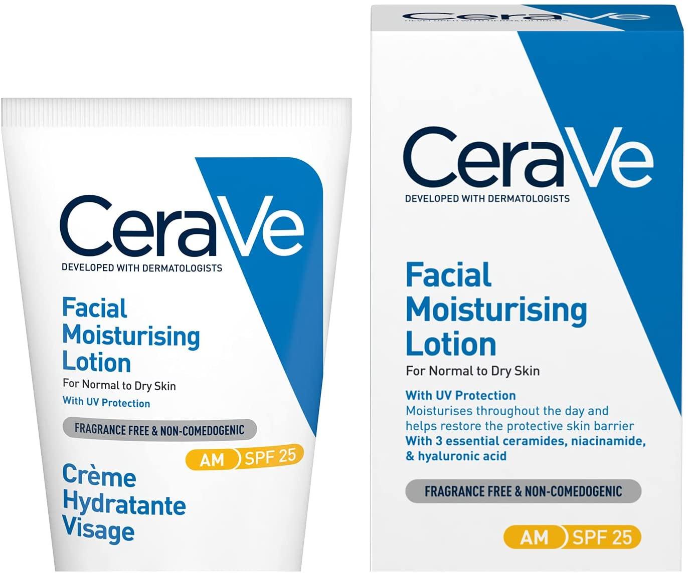 CeraVe SPF25 Moisturizing Face Cream, 52 ml